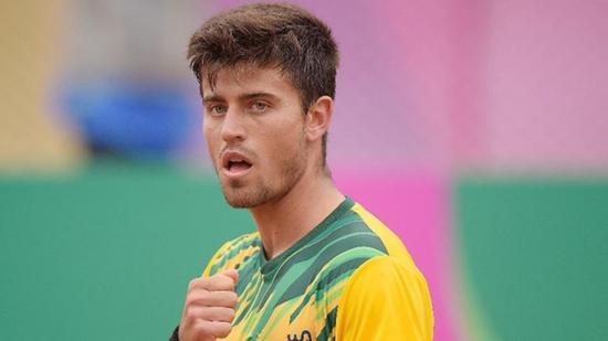Campeão pan-americano nos Jogos de Lima-2019, o tenista brasileiro João Menezes