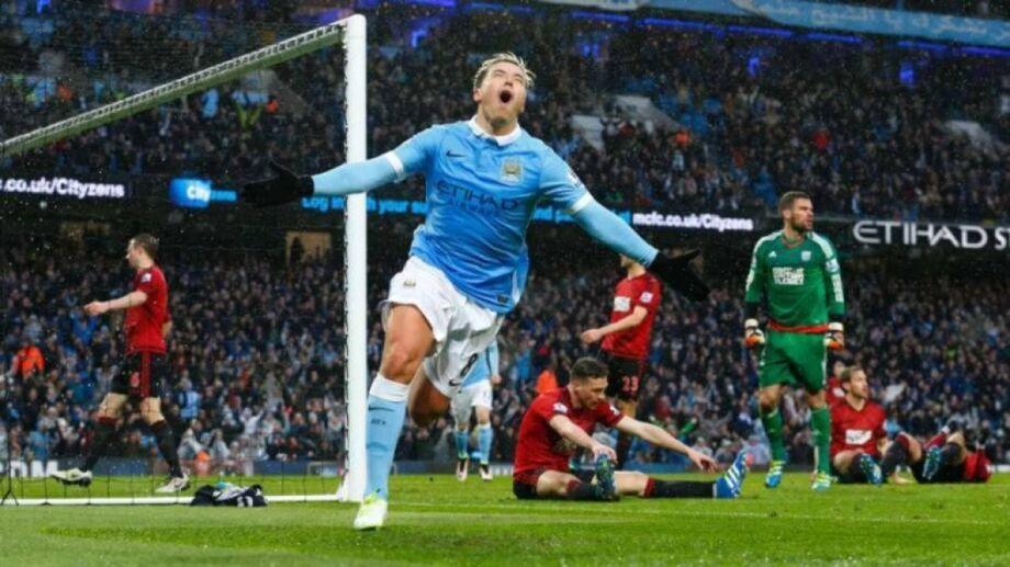 Nasri comemora o gol da vitória do City