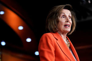 A presidente da Câmara dos Representantes dos Estados Unidos, Nancy Pelosi