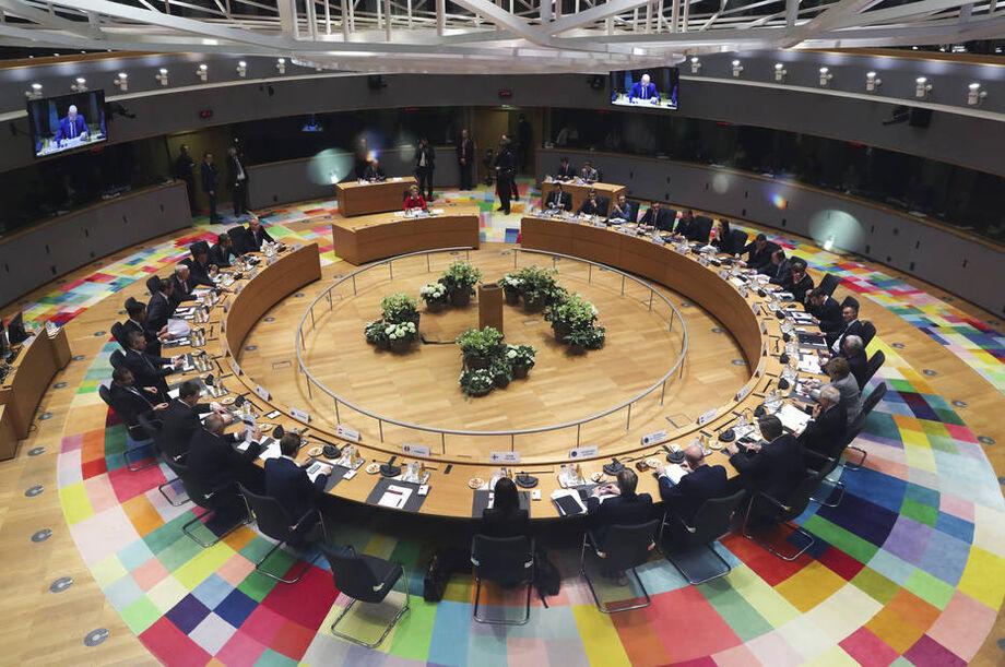 Os líderes europeus reunidos em Bruxelas