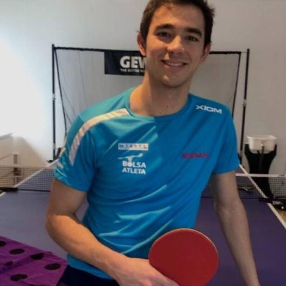 O atleta Hugo Calderano