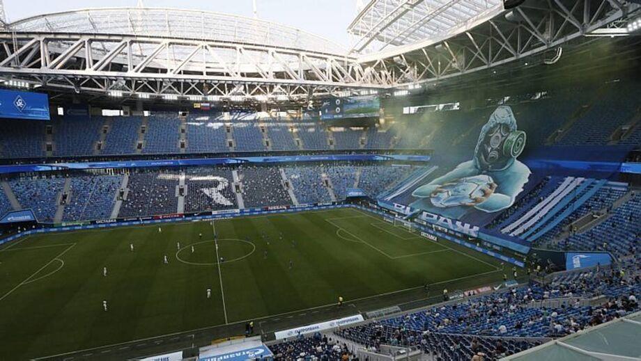 Torcida já voltaram aos estádios na Rússia; a do Zenit fez mosaico especial para simbolizar vitória contra pandemia