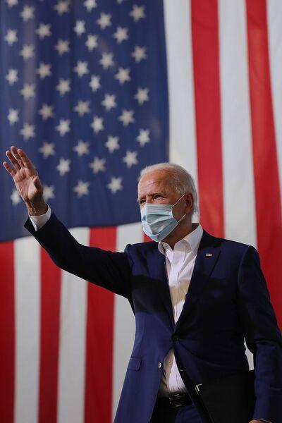 O candidato Joe Biden