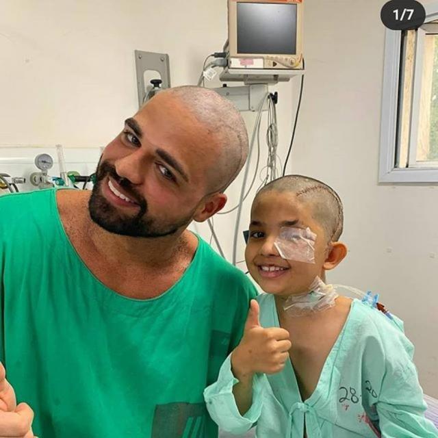Neurocirurgião Caio Nuto e o paciente Pedro Cardozo