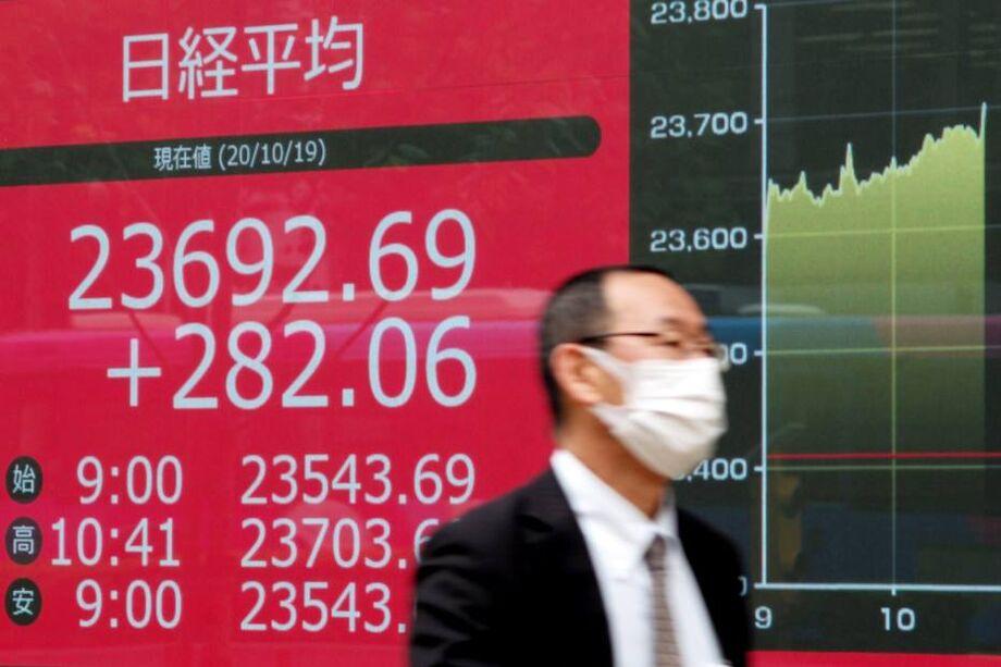 A queda generalizada nos mercados do Velho Continente contrasta com o desempenho das bolsas da Ásia e do Pacífico