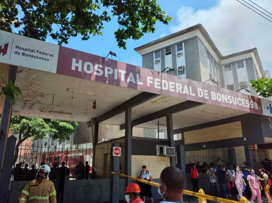 Entrada do Hospital Federal de Bonsucesso