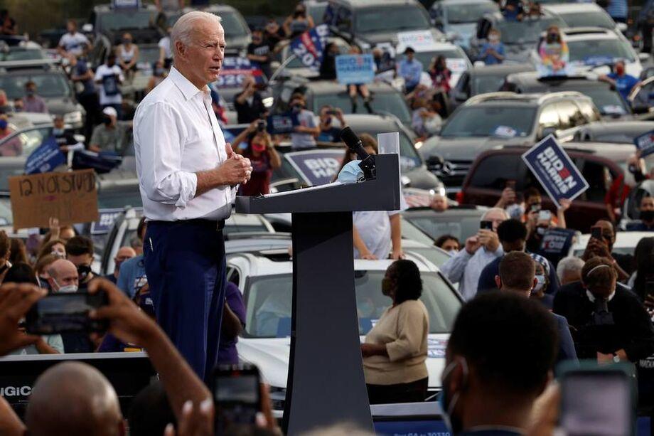 Joe Biden mostrou confiança ao visitar a Geórgia