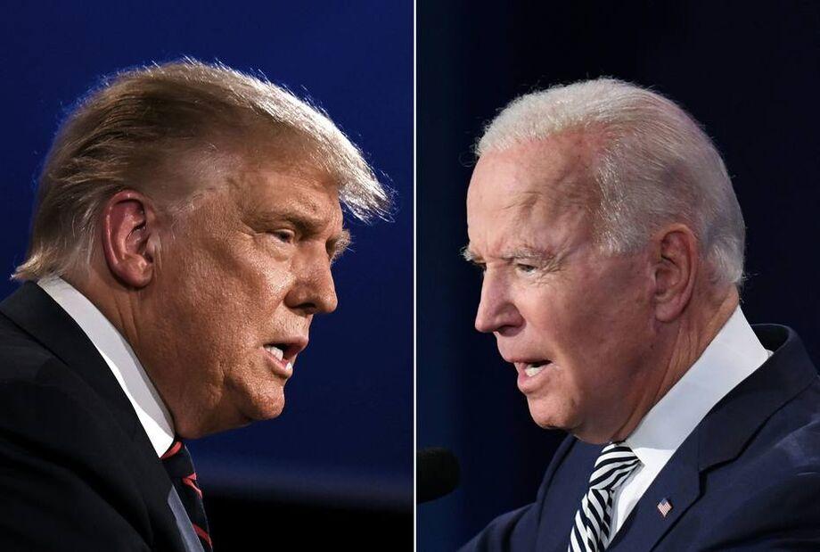 Donald Trump e Joe Biden, candidatos para as eleições americanas