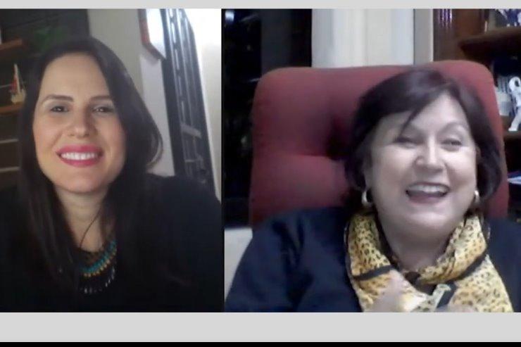 Psicóloga e empresária Angela Marini é entrevistada pela TV ALEMS