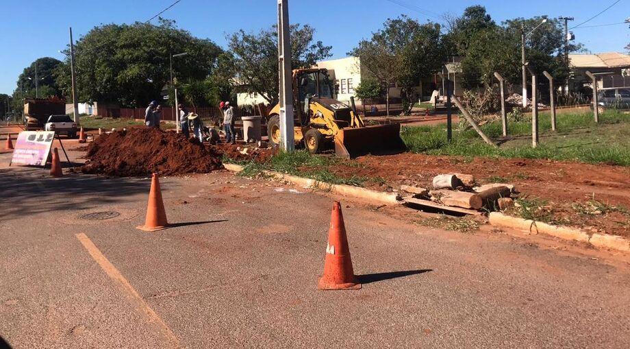 Obras estão sendo executadas nos bairros de Jardim