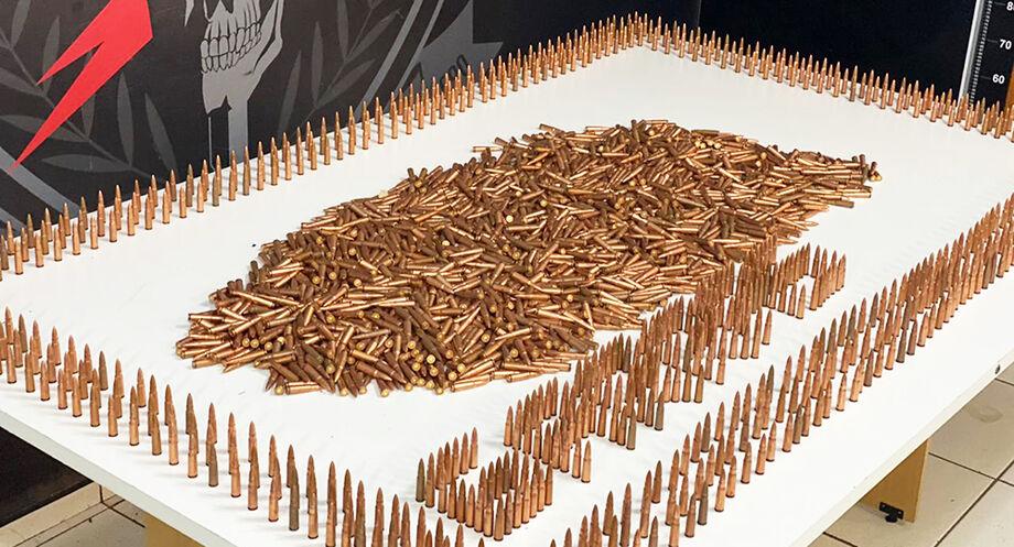 As munições foram apreendidas