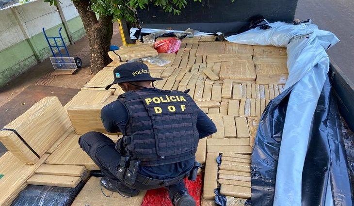 Policiais do Departamento de Operações de Fronteira (DOF) apreenderam, na tarde desta quinta-feira (22), em Brasilândia