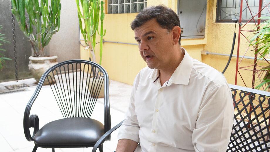 O candidato Vinícius Siqueira