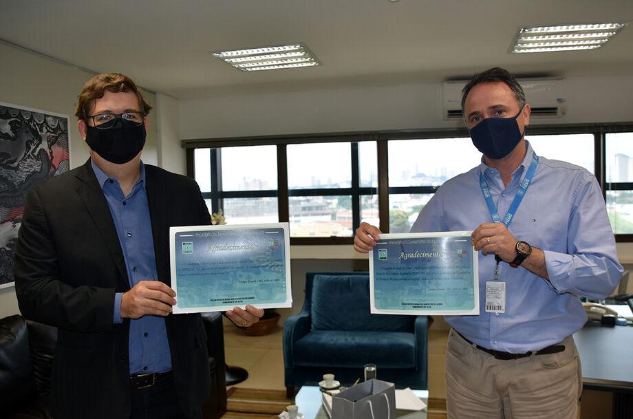 O Senai e a Energisa receberam do Esquadrão de Saúde da Guarnição da Força Aérea Brasileira em Campo Grande (MS) uma carta de agradecimento pelo trabalho conjunto realizado para a manutenção de respiradores