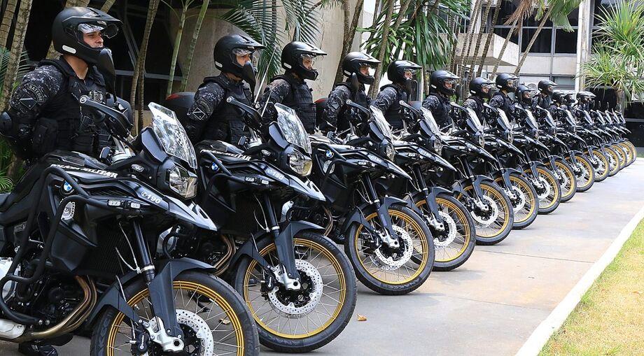 Os novos veículos serão utilizados no policiamento tático de motos