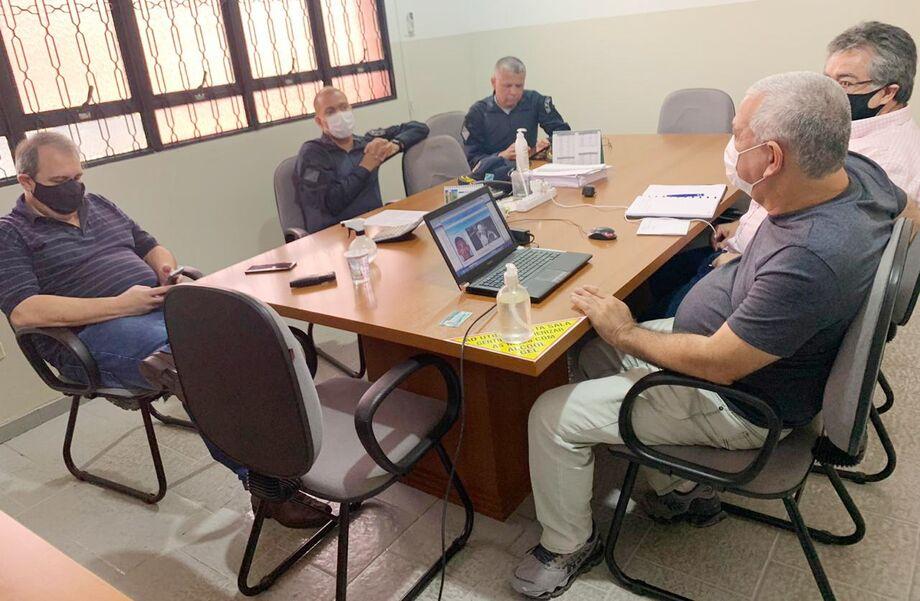 Diretores do Consórcio Guaicurus reuniram-se com representantes do Comando de Policiamento Metropolitano de Campo Grande, da Polícia Militar