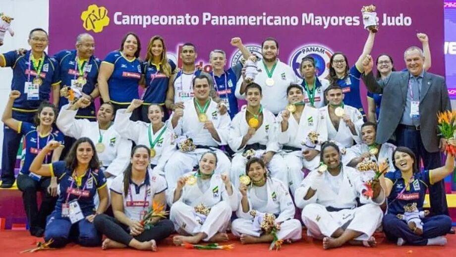 Por 4 a 3, Brasil supera time de Cuba e é campeão do Pan de Judô. Foto: Divulgação/CBJ