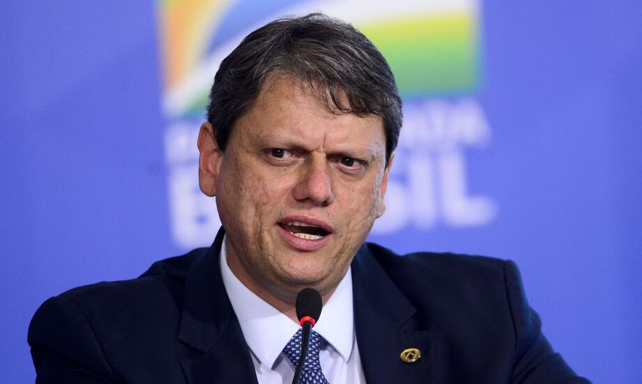 O ministro da Infraestrutura, Tarcísio Gomes de Freitas