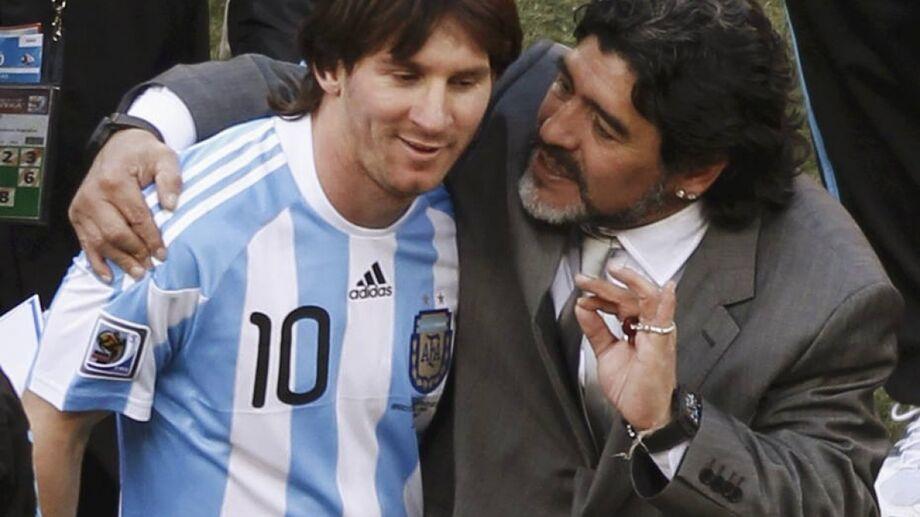 Messi lamentou a morte de Maradona