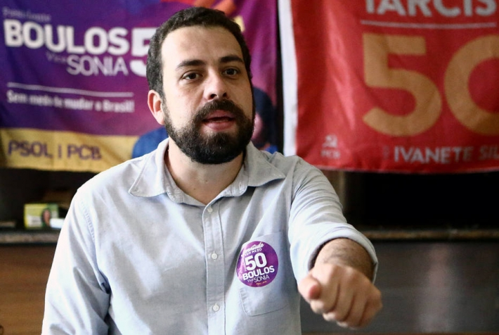 O candidato do PSOL à Prefeitura de São Paulo, Guilherme Boulos