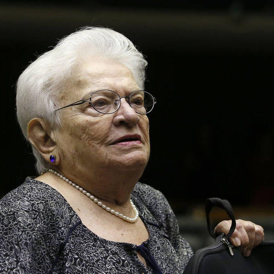 A deputada federal Luiza Erundina, candidata a vice na chama de Boulos