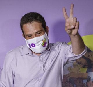 Boulos disputará o segundo turno com o prefeito Bruno Covas (PSDB)