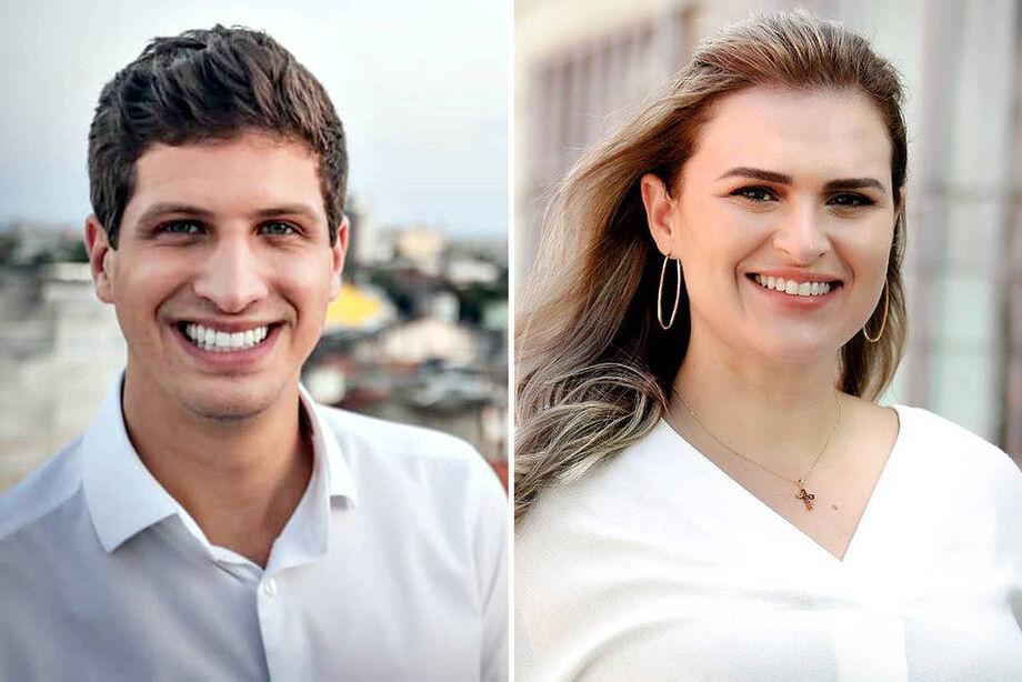 Os candidatos João Campos (PSB) e Marília Arraes (PT)