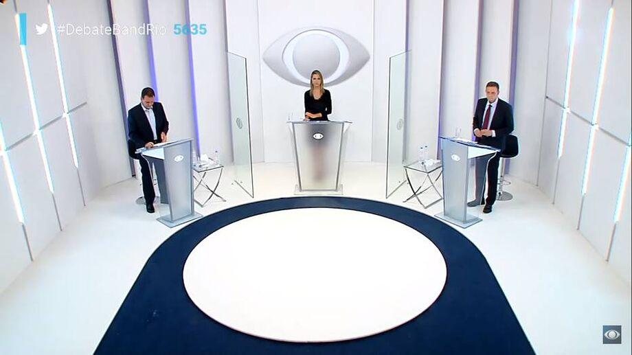 Debate na TV Band para o segundo turno no Rio entre Eduardo Paes (DEM) e Marcelo Crivella (Republicanos)