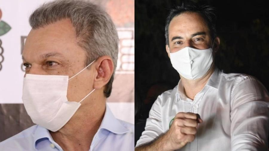 O candidato José Sarto (PDT) e o candidato Capitão Wagner (Pros)