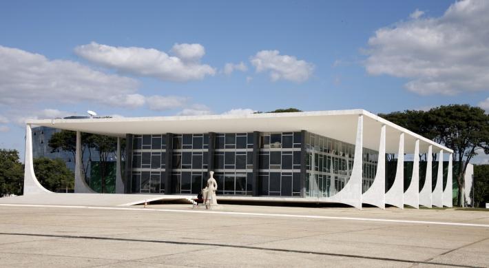 Fachada do Supremo Sede do Tribunal Federal em Brasília