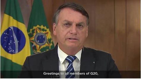 Em sua mensagem, Bolsonaro afirmou ainda que os desafios enfrentados em 2020 não têm precedentes na história recente