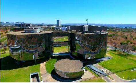 Vista aérea da Procuradoria-Geral da República em Brasília