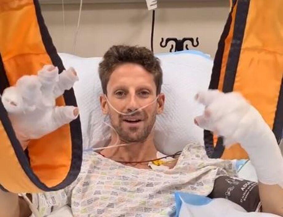 Romain Grosjean grava vídeo para tranquilizar fãs após grave acidente