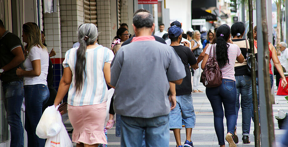 População no Centro de Campo Grande