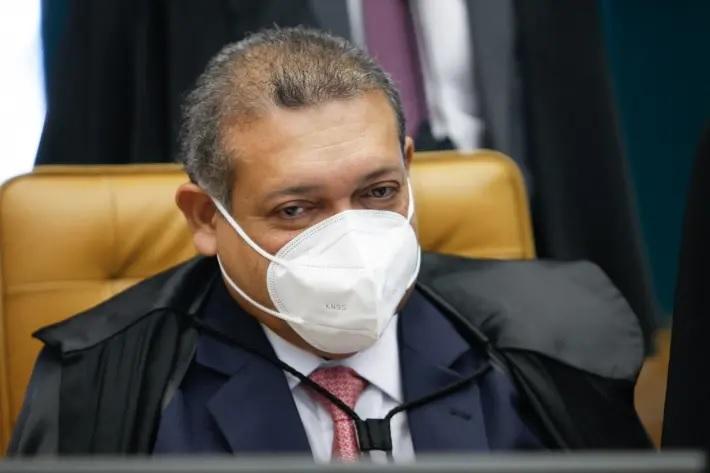 O ministro Kassio Nunes Marques, do Supremo Tribunal Federal, durante sessão plenária.