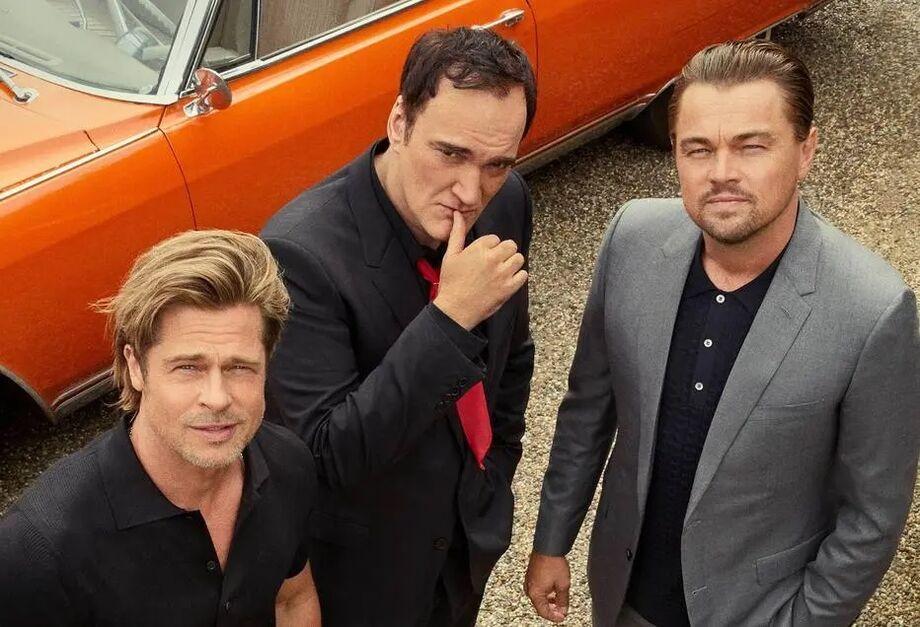 Quentin Tarantino, Brad Pitt e Leonardo Di Caprio