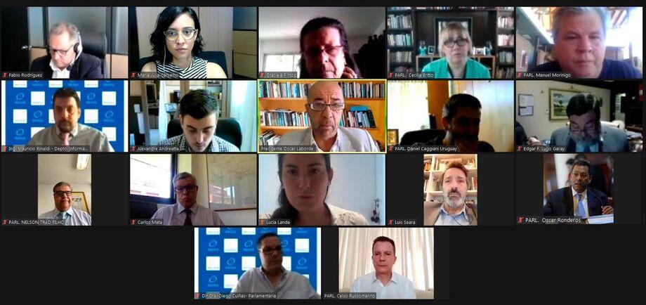 A mesa diretora do Parlamento do Mercosul se reuniu online, nesta segunda, fez o balanço sobre as eleições municipais do Brasil e da Bolívia