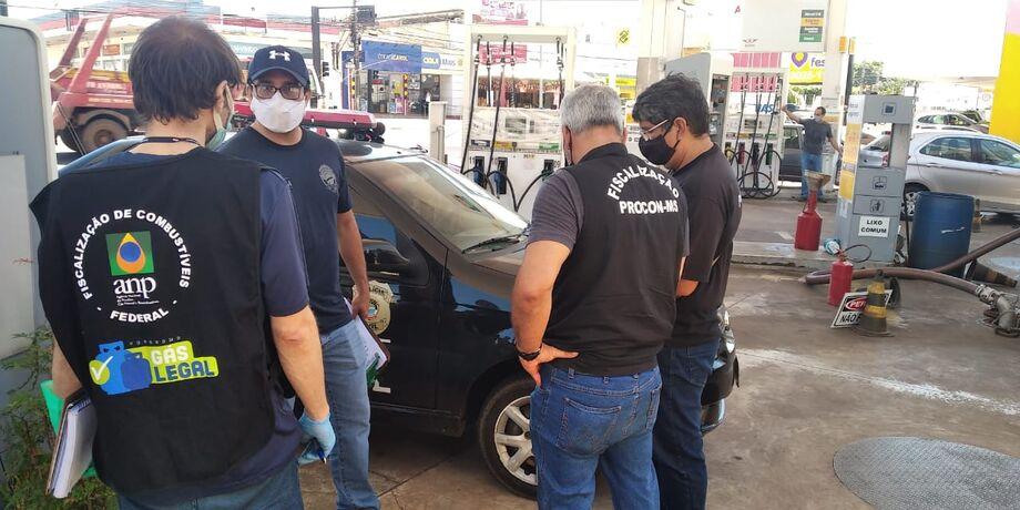 O Procon fez uma vistoria nos postos de gasolina