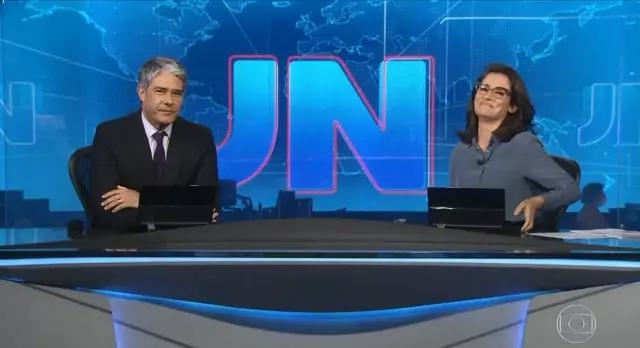 William Bonner e Renata Vasconcellos em edição do 'Jornal Nacional'