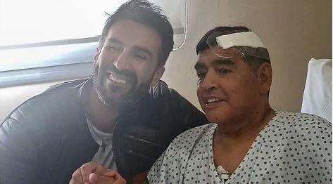 Diego Maradona e seu médico pessoal, Leopoldo Luque