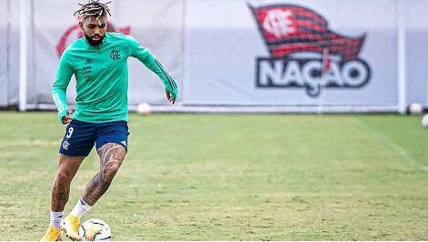 O centroavante Gabriel não estará em campo pelo Flamengo contra o Racing