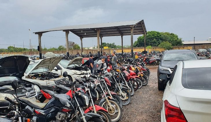 São 400 motocicletas e 79 automóveis disponíveis