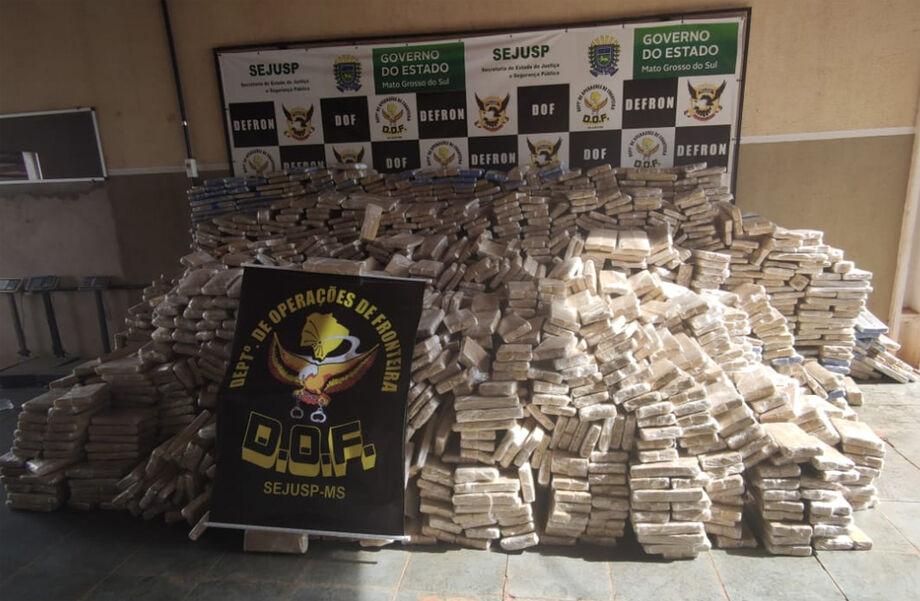 Mais de 6 toneladas de drogas, a maioria de maconha foram apreendidos