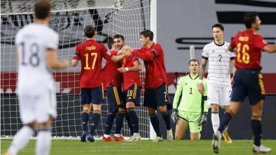 Espanha vai enfrentar a Itália em uma das semifinais da Liga das Nações