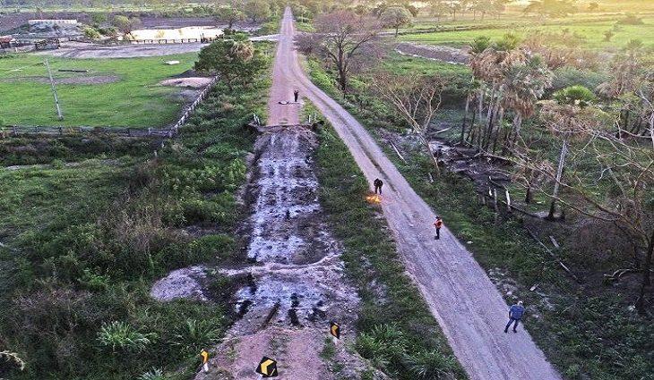 Pontes destruidas