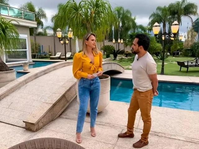 A apresentadora Eliana, do SBT, exibirá entrevista gravada há três semanas com Luciano, quando cantor não estava com covid-19