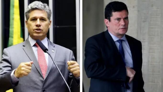 O deputado Paulo Teixeira e o ex-ministro Sérgio Moro