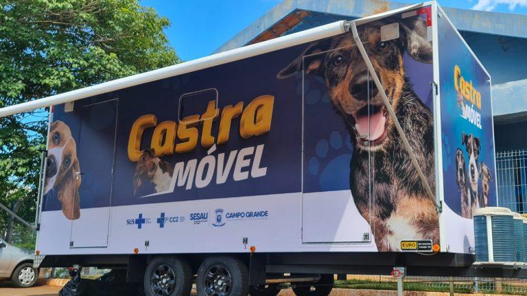ampo Grande está recebendo uma unidade móvel completa, com mobiliário, gaiolas, equipamentos e instrumentos cirúrgicos, para a realização de castração em cães, em regime de mutirão