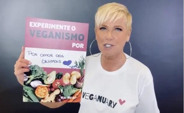Xuxa na campanha Veganuary