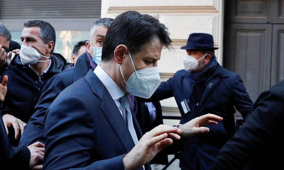O primeiro-ministro italiano Giuseppe Conte em Roma